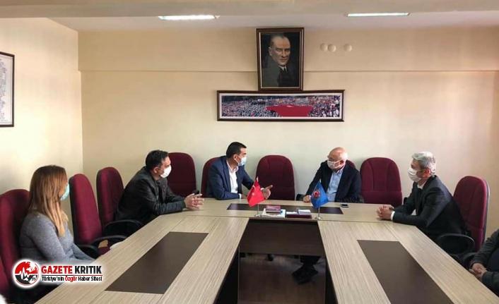 """DİSK ve Türk-İş'i ziyaret eden Çakırözer: """"Emekçilerimizin haklarını savunmaya devam edeceğiz"""""""