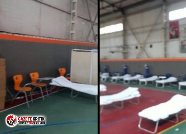 İzmir'de spor salonu hastaneye dönüştürülüyor