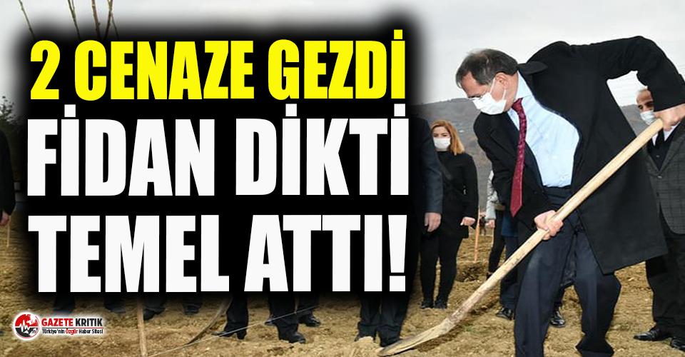 Karantinada olması gereken AKP'li başkan gün boyu cenazeden açılışa birçok etkinliğe katıldı