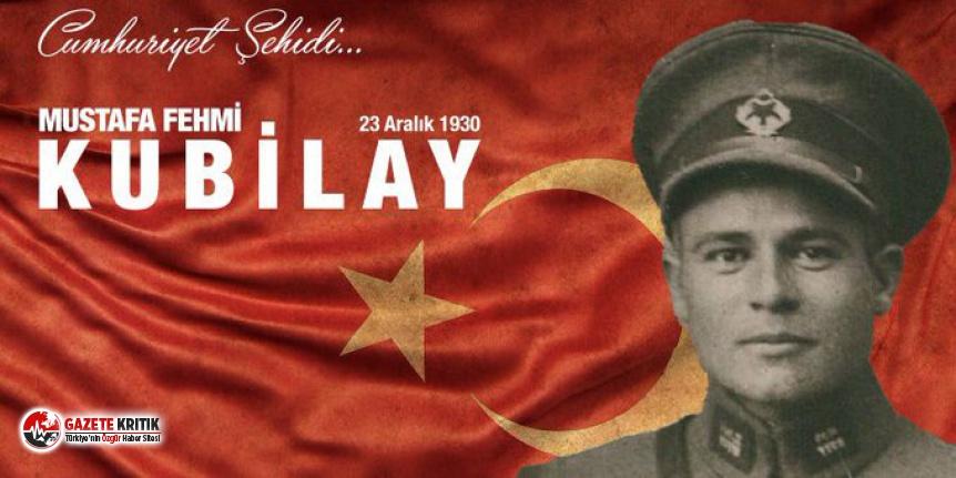 Tuncay Özkan'dan Cumhuriyet Şehidi Kubilay...