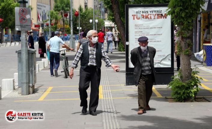 65 yaş üstüne uygulanan sokağa çıkma yasağında...