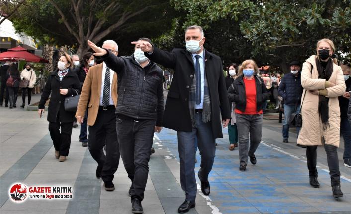 CHP Heyeti Çarşı Esnafını Ziyaret Etti