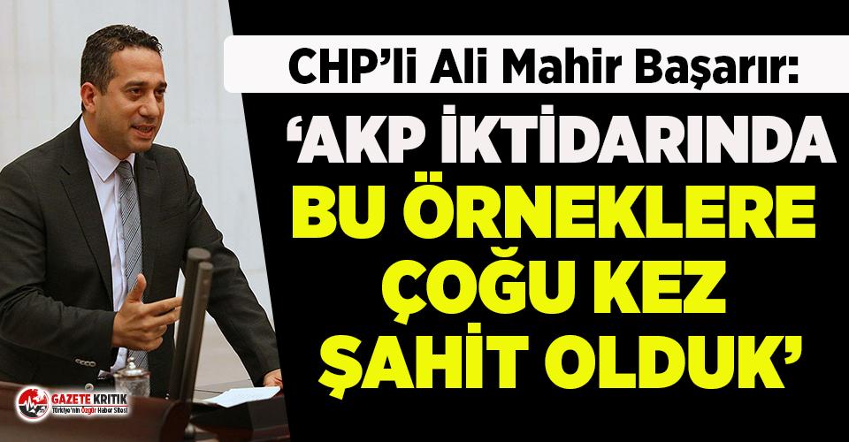 CHP'li Başarır: Mersin Vali Yardımcısı bu...
