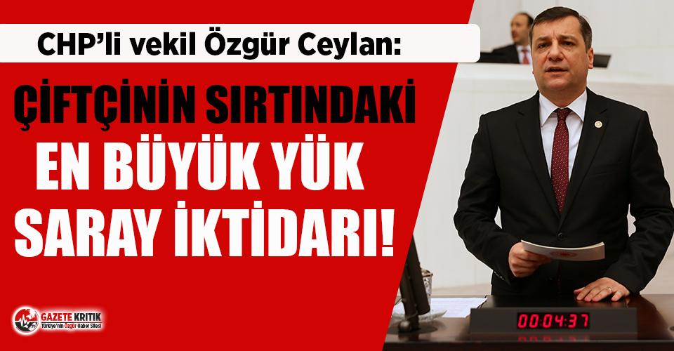 CHP'li Ceylan: Çiftçinin sırtındaki en büyük yük saray iktidarı