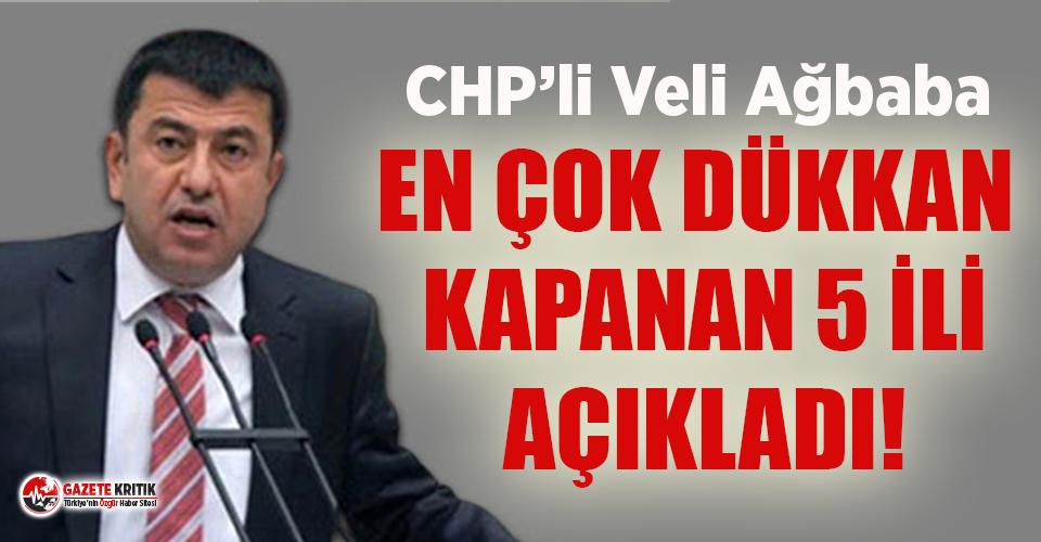 CHP'li Veli Ağbaba'dan 'kapanan dükkan...