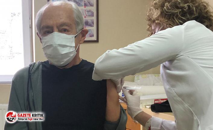 Genco Erkal aşı olduğunu 'Şahsım da' notuyla duyurdu