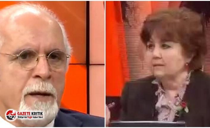 Halk TV canlı yayınında ''bunak''...