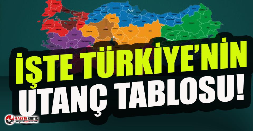 İşte Türkiye'nin utanç haritası!