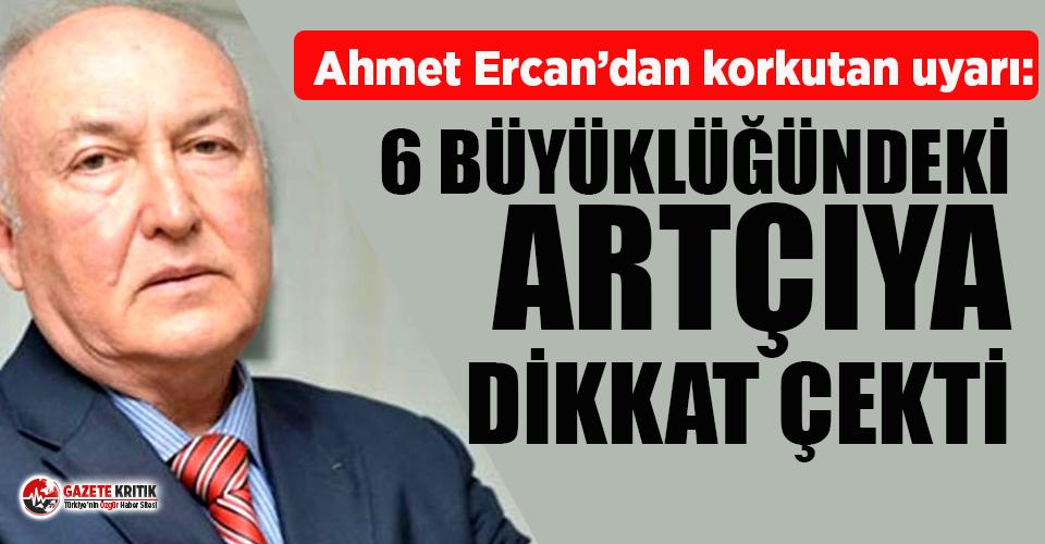 İzmir'deki depremin ardından Ahmet Ercan'dan...