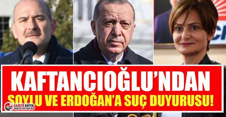 Kaftancıoğlu'ndan Erdoğan ve Soylu'ya...