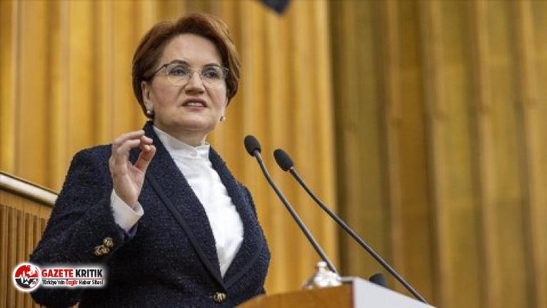 Meral Akşener'den Erdoğan'a: Gittiğin yol, yol değil