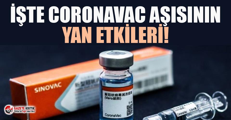 Prof. Dr. İlhan, CoronaVac aşısının yan etkilerini...