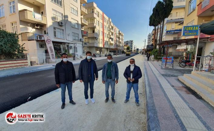 Tarsus'ta caddeler Büyükşehir tarafından...