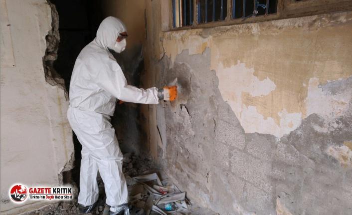 Yenişehir'de yıkılacak binalarda asbest kontrolü...