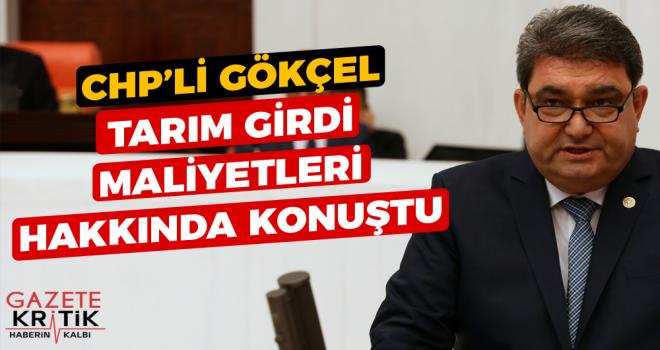 CHP'Lİ GÖKÇEL TARIM GİRDİ MALİYETLERİ HAKKINDA...