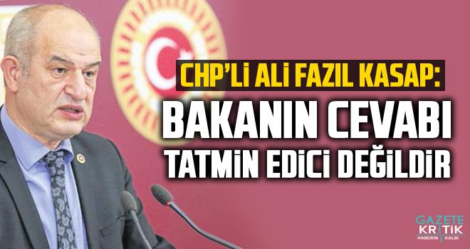 CHP'li Ali Fazıl Kasap: Bakanın Cevabı Tatmin Edici...