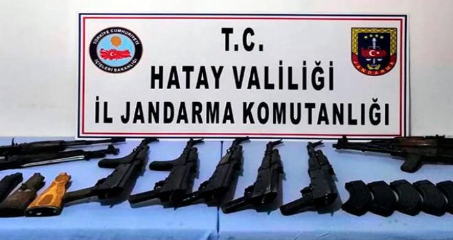 Reyhanlı'da toprağa gömülü uzun namlulu 9 silah...