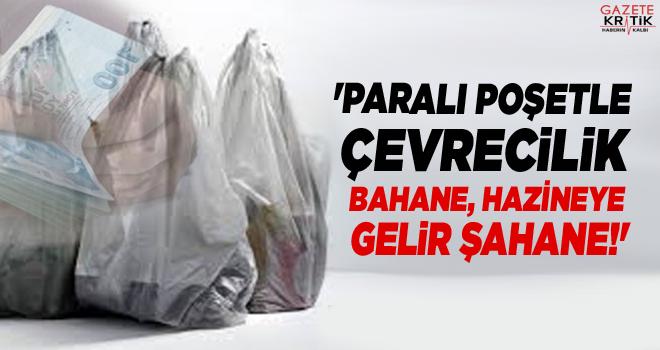 'PARALI POŞETLE ÇEVRECİLİK BAHANE, HAZİNEYE GELİR...
