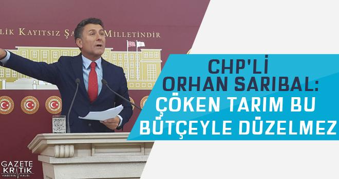 CHP'li Orhan Sarıbal:Çöken Tarım Bu Bütçeyle...