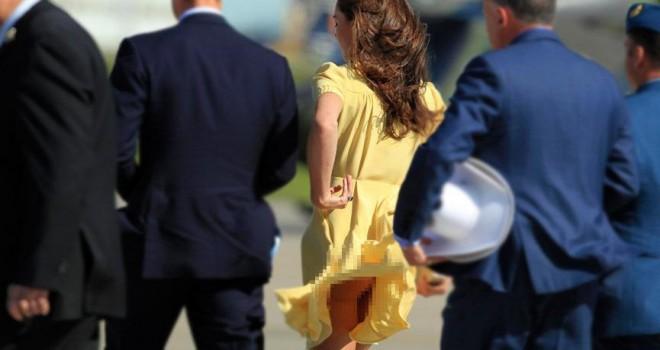 Kate Middleton sürekli rüzgarın azizliğine uğruyor,...