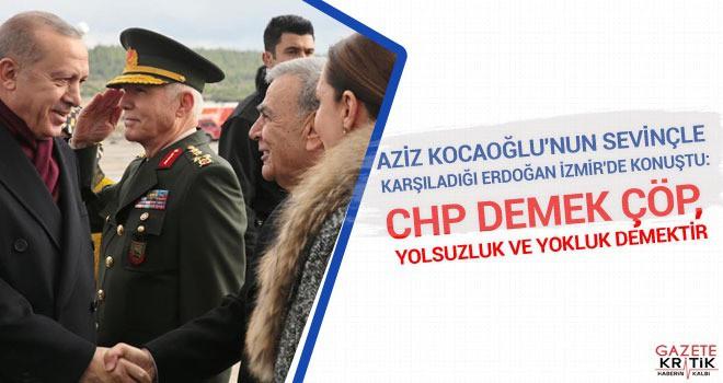 CHP'LİLERDEN ERDOĞAN'I SEVİNÇLE KARŞILAYAN BELEDİYE...