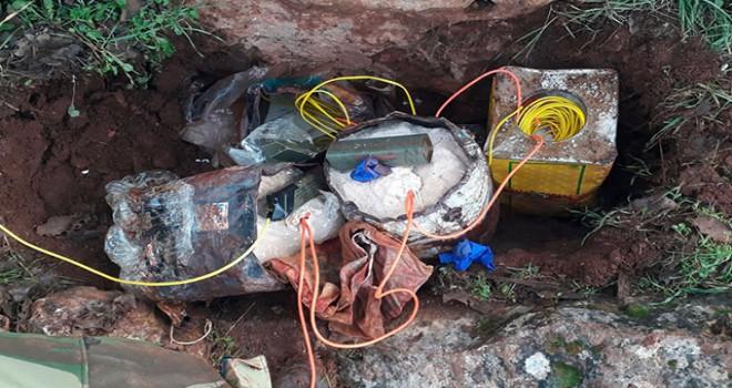 Mardin kırsalında bulunan 350 kilo patlayıcı imha...
