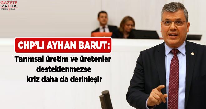 CHP'li Ayhan Barut:Tarımsal üretim ve üretenler...