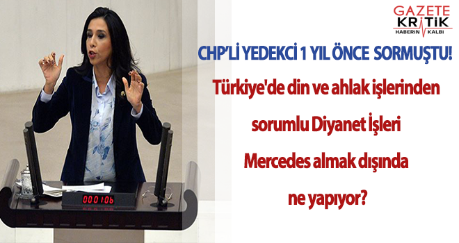 CHP'Lİ GÜLAY YEDEKCİ BİR YIL ÖNCE İKTİDARI BÖYLE UYARMIŞTI!