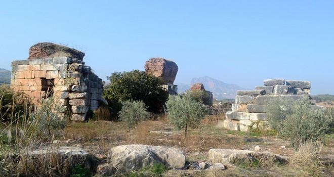 Üzüm bağları arasındaki 1800 yıllık bazilika...