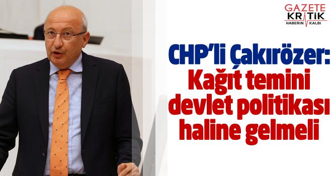 CHP'den gazeteleri derinden etkileyen kağıt krizine...