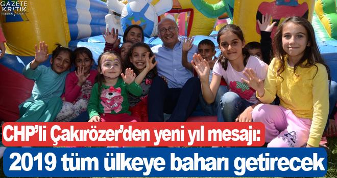 CHP'li Çakırözer'den yeni yıl mesajı:Umut dolu...