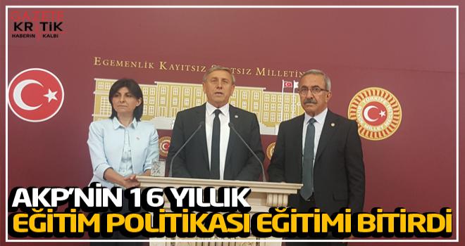 AKP'nin 16 Yıllık Eğitim Politikası Eğitimi Bitirdi