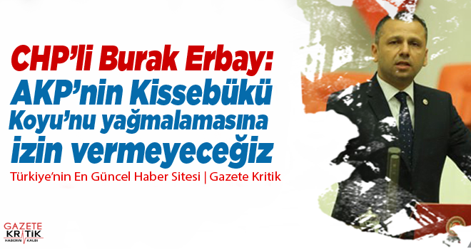 CHP'li Burak Erbay: AKP'nin Kissebükü Koyu'nu yağmalamasına...