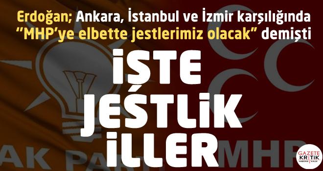 İşte AKP'nin MHP'ye 'jest' yaptığı iller