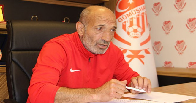 Gümüşhanespor'da teknik direktör Ziya Doğan istifa...