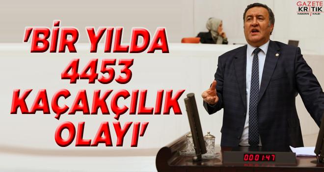 'BİR YILDA 4453 KAÇAKÇILIK OLAYI'