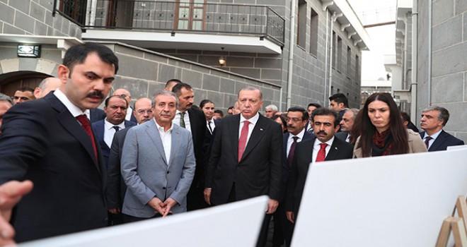 Cumhurbaşkanı Erdoğan Sur'daki yeni konutları...