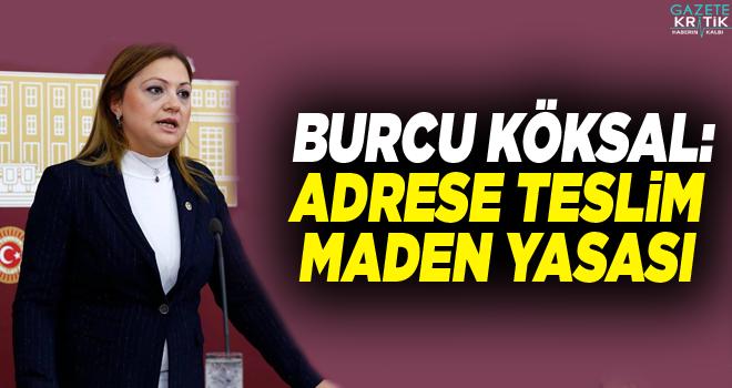 CHP'li Burcu Köksal:Adrese teslim maden yasası