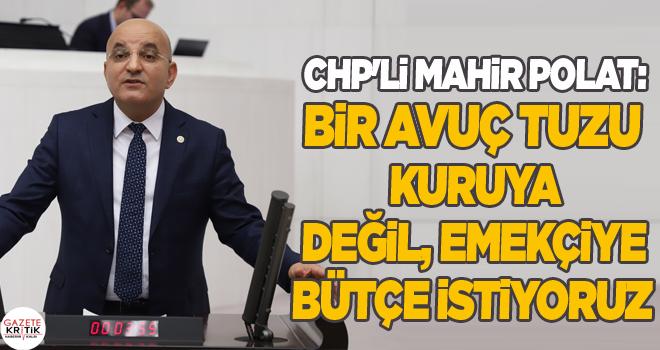 CHP'Lİ MAHİR POLAT: BİR AVUÇ TUZU KURUYA DEĞİL,...