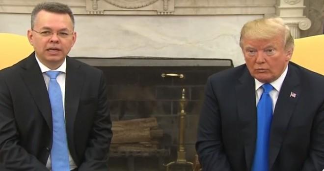 Brunson Beyaz Saray'da... Trump'tan bir mesaj daha