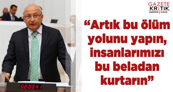 CHP'li Çakırözer ölüm yoluna dönen Alpu yolu...