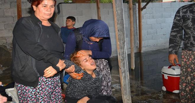 Evleri yanan çift, gözyaşlarına boğuldu