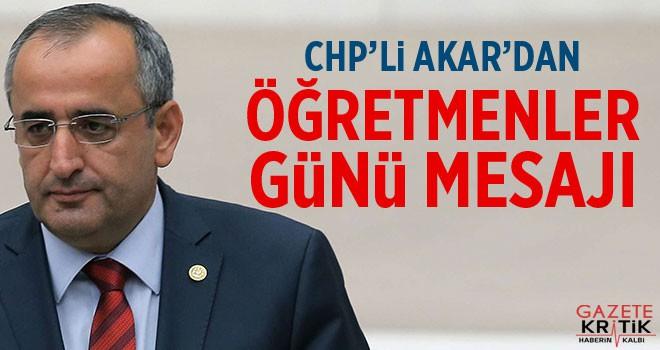 CHP'li Haydar Akar'dan 24 KASIM ÖĞRETMENLER GÜNÜ...