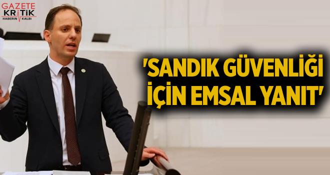 'SANDIK GÜVENLİĞİ İÇİN EMSAL YANIT'