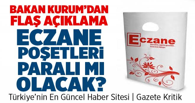 Bakan Kurum: Eczanelerde poşetlerin ücretsiz olması...