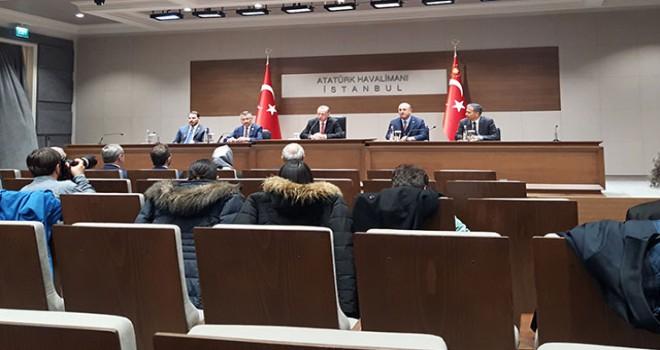 Cumhurbaşkanı Erdoğan'dan Atatürk Havalimanı'nda...