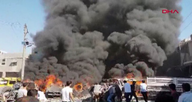 Azez'de patlama; 3 ölü, çok sayıda yaralı
