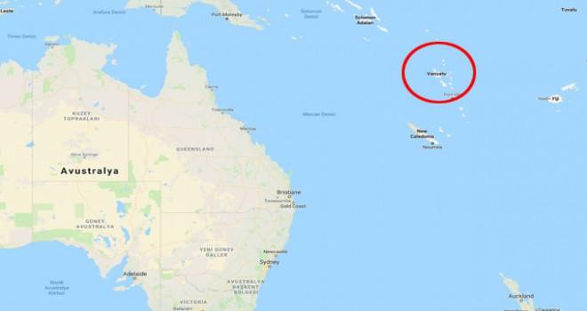 Dünyanın en mutlu ülkesi Vanuatu'da 6.4 büyüklüğünde...