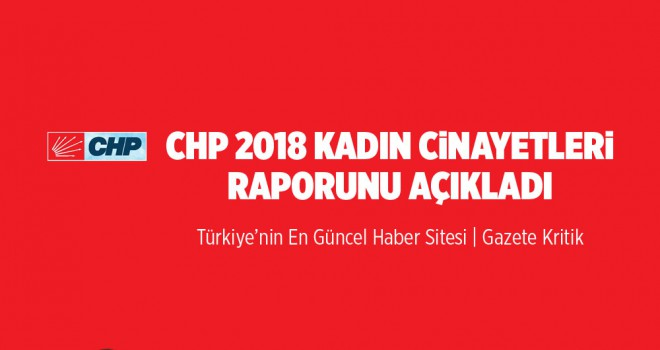 CHP 2018 Yılı Kadın Cinayetleri Raporu'nu Açıkladı