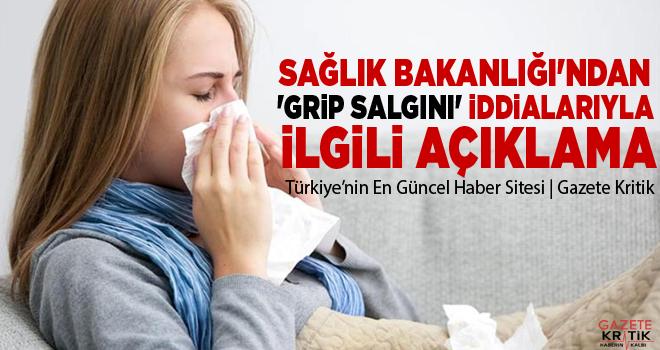 Sağlık Bakanlığı'ndan 'Grip salgını' iddialarıyla...